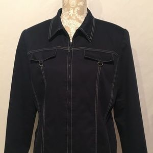 Alfred Dunner Navy Blue Jacket Size 12